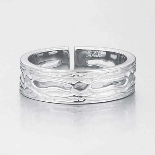 Oxidized 925 sterling silver open mens rings