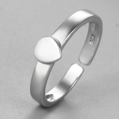 925 sterling silver heart open ring