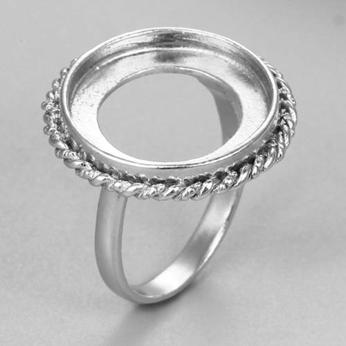 925 sterling silver round ring mountings