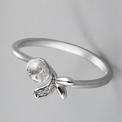 925 sterling silver butterfly pearl ring mounting
