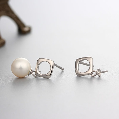 925 sterling silver pearl earring findings