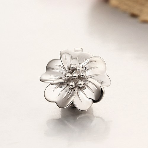925 sterling silver single flower magnetic clasps