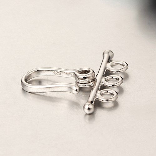 925 sterling silver three rows bracelet clasps