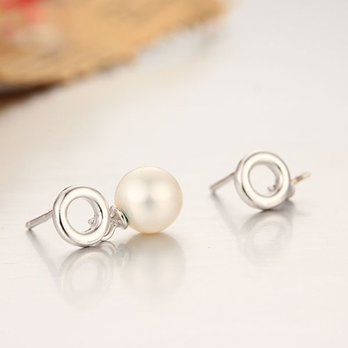 925 sterling silver round ring pearl earring findings