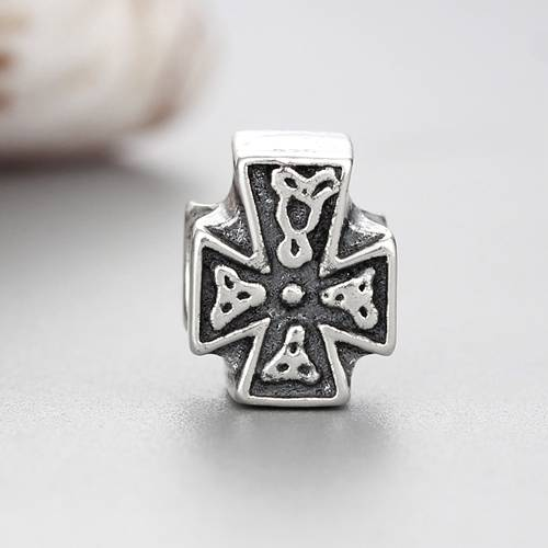 925 sterling silver cross beads