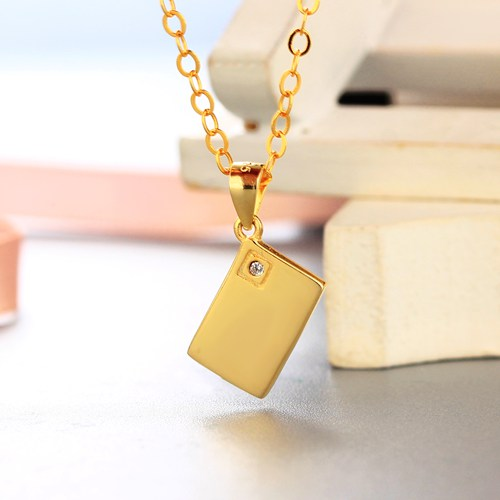 925 sterling silver solid square with cz stones pendants