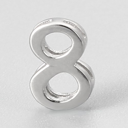 925 sterling silver number 8 charms
