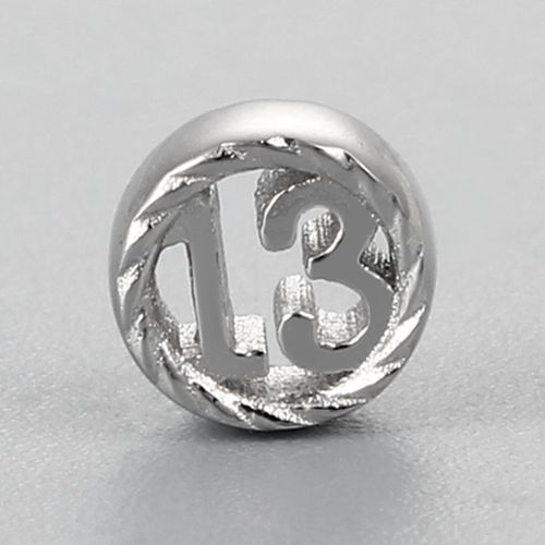 925 sterling silver number 13 anniversary charms