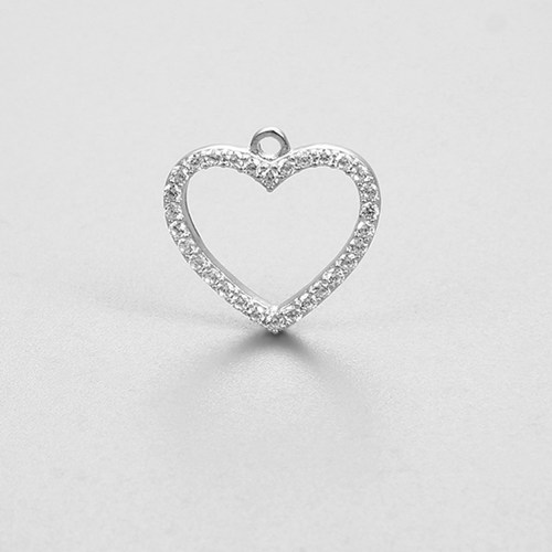 925 sterling silver heart charms
