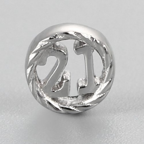 925 sterling silver number 21 anniversary charms