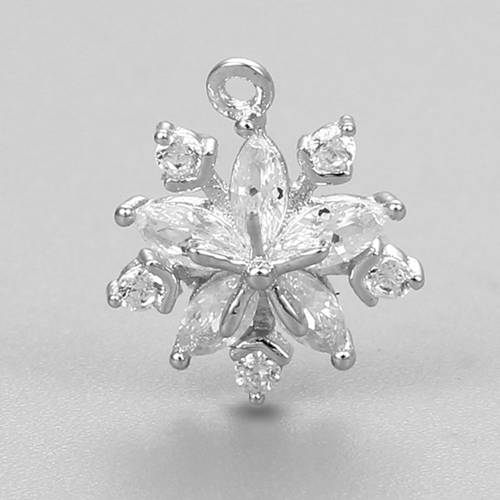 925 sterling silver snowflake pendant charm