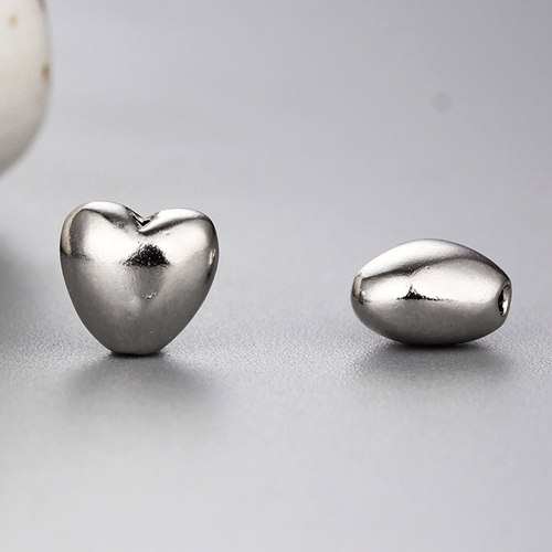925 sterling silver diy heart beads