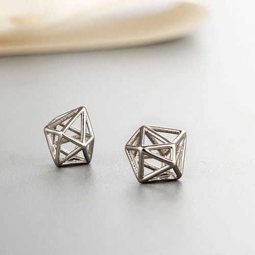 925 sterling silver cube cage charms