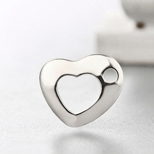 925 sterling silver hollow heart charms