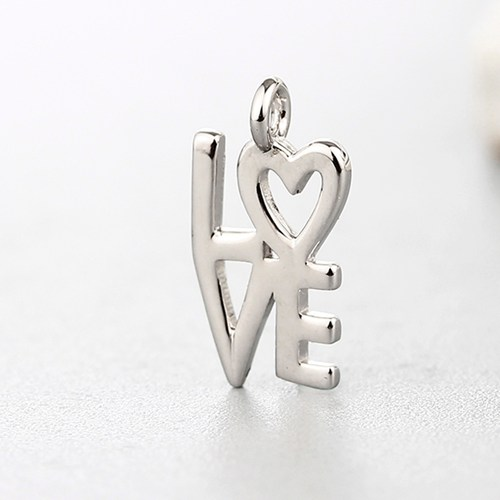 925 sterling silver heart letter love charms