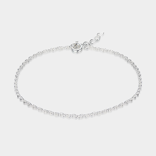 925 sterling silver loose rope chain bracelets
