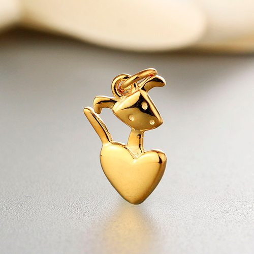 925 sterling silver cute heart charm