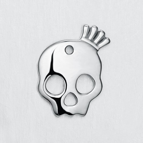 925 sterling silver Halloween skull charm