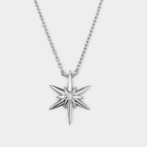 925 sterling silver unique star charm necklaces