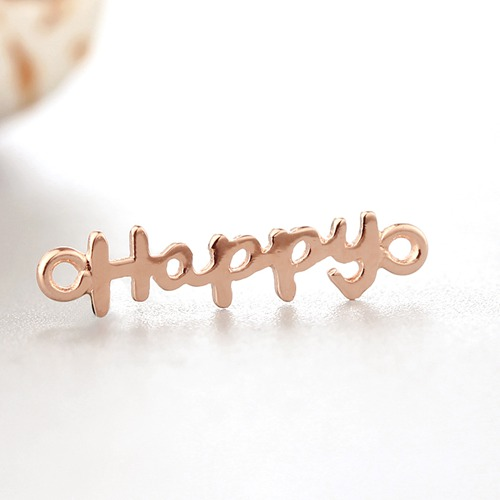 925 sterling silver happy word charm