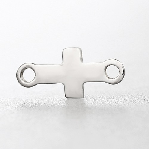 925 sterling silver simple cross charm