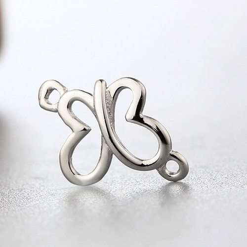 925 sterling silver hollow butterfly connector charms