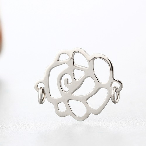 925 sterling silver rose charms without jump rings