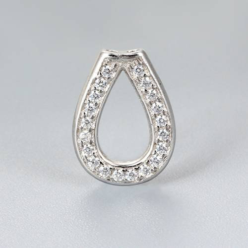 925 sterling silver pear shape CZ spacer