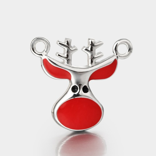 925 sterling silver enamel bull connector charms