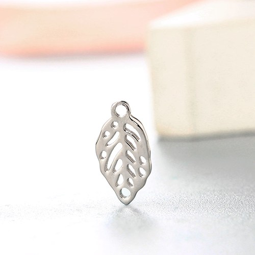 925 sterling silver hollow leaf connector charms