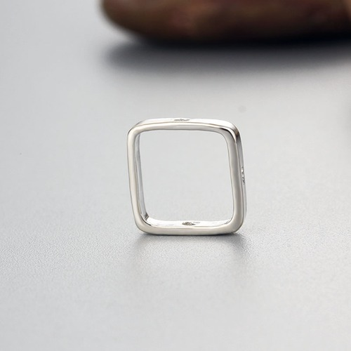 925 sterling silver simple square ring findings