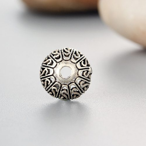 925 sterling silver flower bead caps