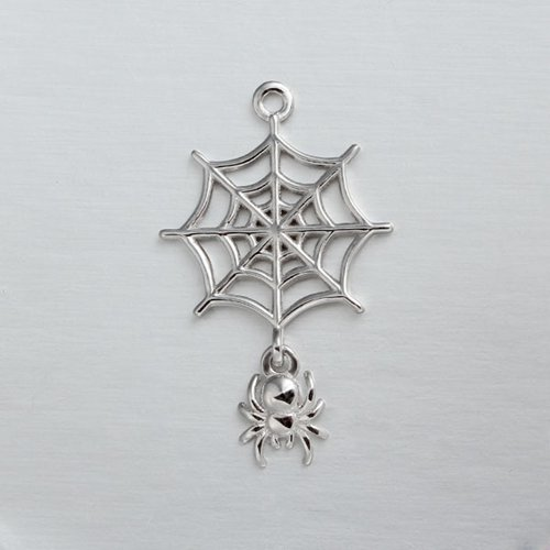 925 sterling silver braiding spider charm