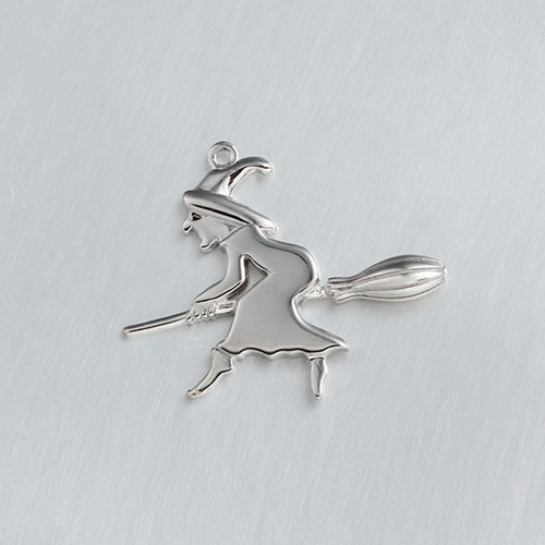 925 sterling silver Halloween witch charm