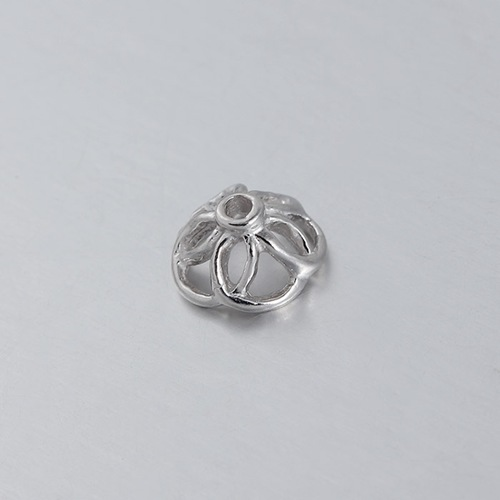 925 sterling silver 8*1MM flower bead caps