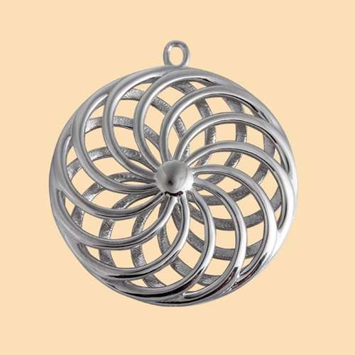 925 sterling silver 3d hollow round flower of life pendants