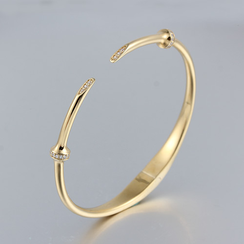 925 sterling silver thin cz cuff bracelet bangle