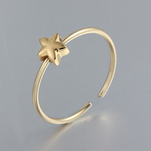 925 sterling silver minimalist star adjustable rings
