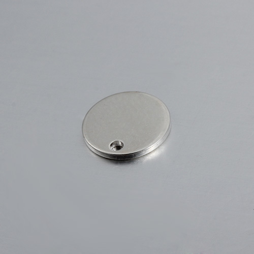 925 sterling silver 10mm engraved logo tag