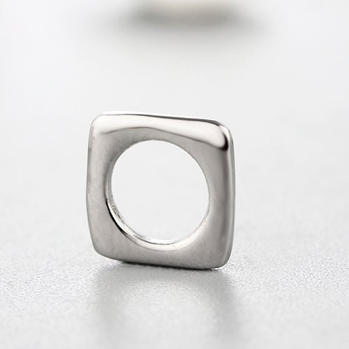 925 sterling silver square spacer