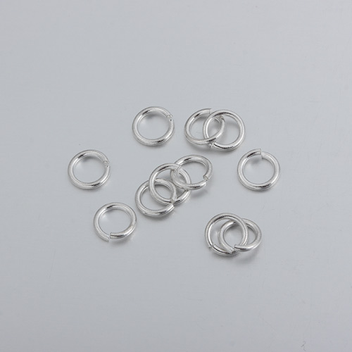 925 sterling silver open jump rings -0.9*6.0MM