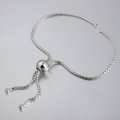 925 sterling silver round ball slider bracelet findings