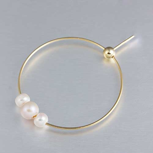925 sterling silver three pearls ring earrings