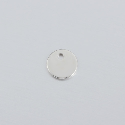 925 sterling silver 8mm blank tag