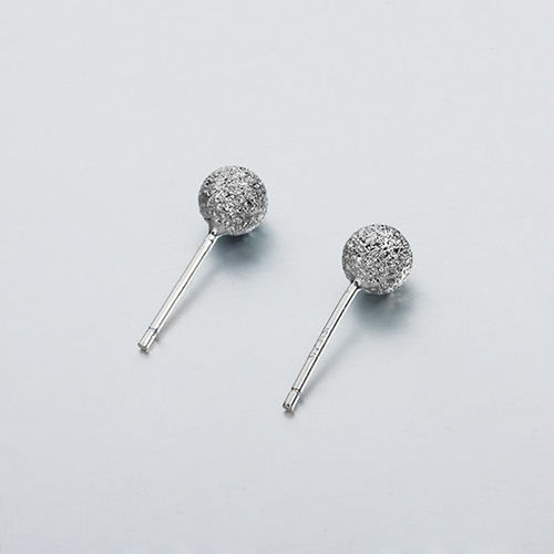 925 sterling silver stardust ball ear pins -4mm