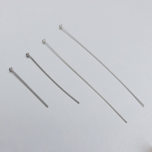 925 sterling silver head pins-50mm