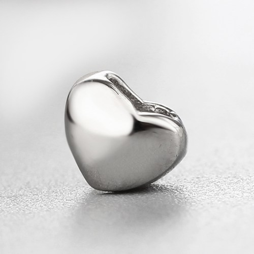 925 sterling silver simple heart charm -4*5mm