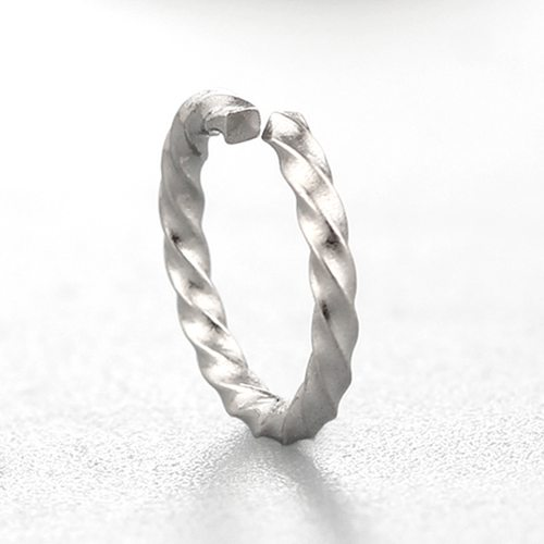 925 sterling silver simple twisted open rings -10.5mm