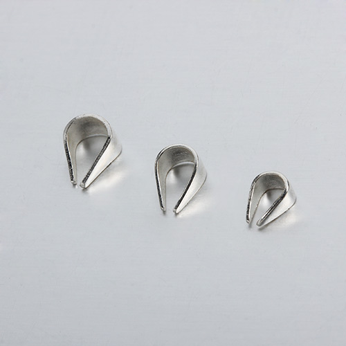 925 sterling silver pendant bails -2.5MM