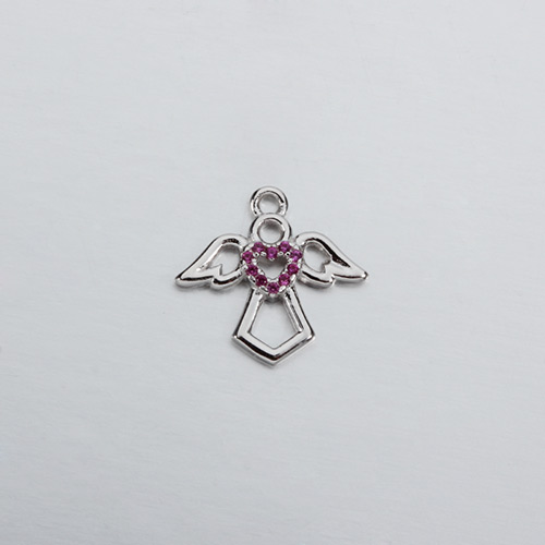 925 sterling silver cz angel charms